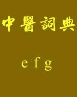 《中医词典》e~f~g书籍目录