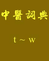 《中医词典》t~w书籍目录