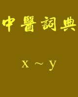 《中医词典》x~y书籍目录
