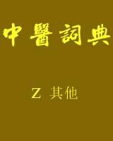 《中医词典》z~其他书籍目录